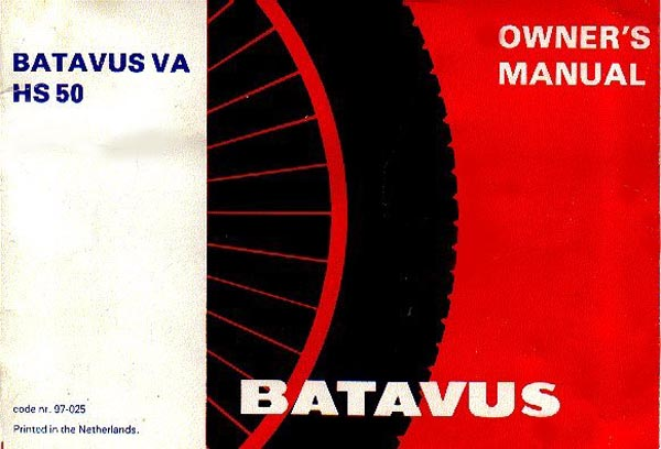 Batavus HS50 Owners Manual