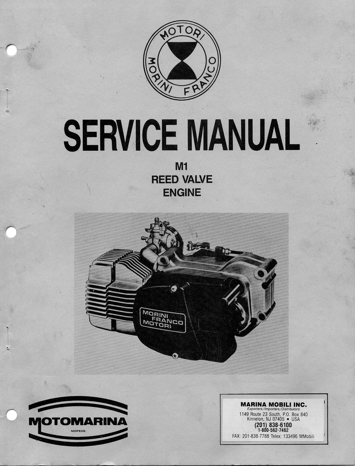 Franco Morini M1 Service Manual
