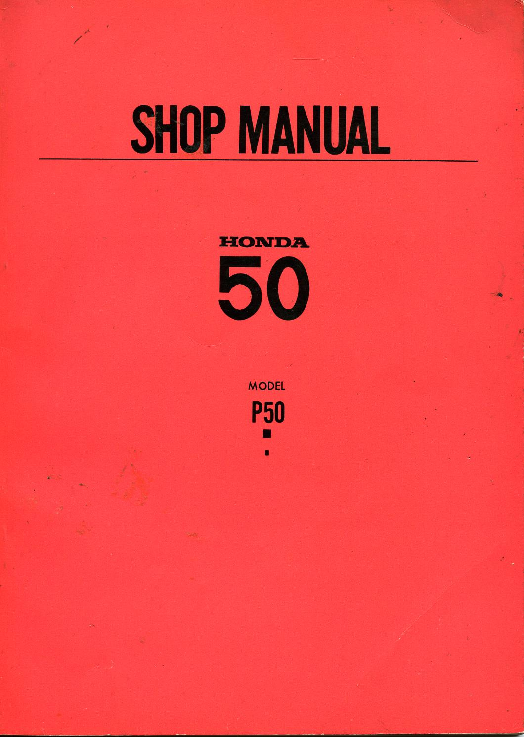 Honda P50 Shop Manual