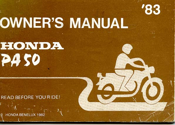Honda PA50 owners manual