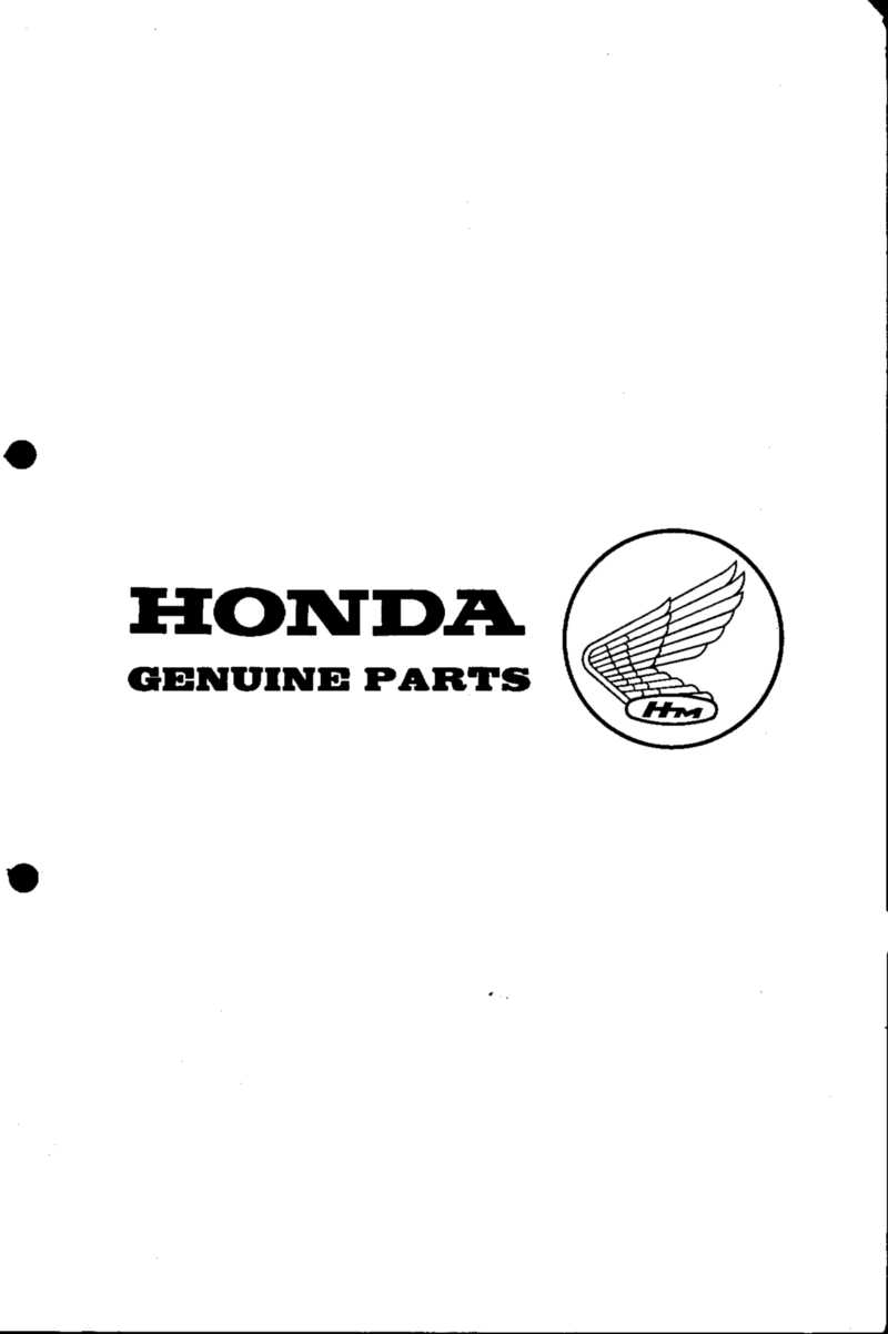 Honda PF50 Parts List