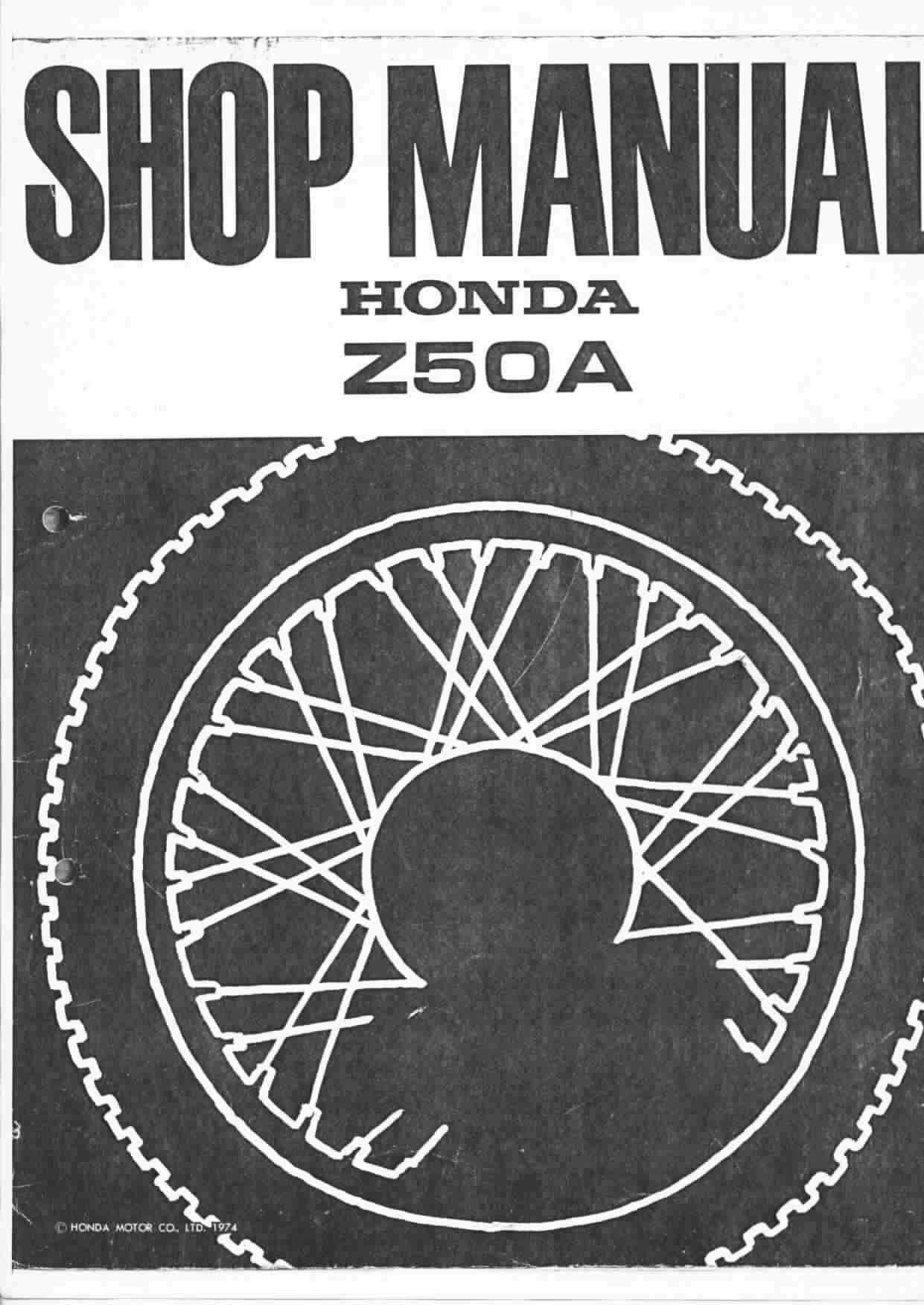Honda Z50 A K2 AK2 AK3 AK4 AK5 Workshopmanual