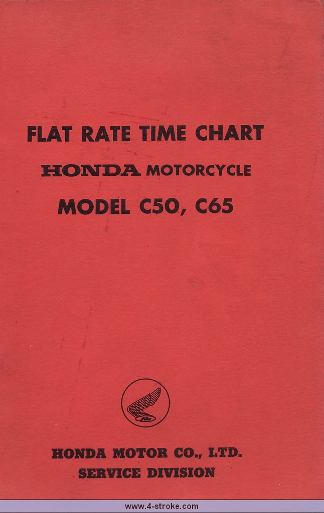 Honda C50 & C65 Shopmanual