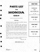 Honda CD50 Partslist