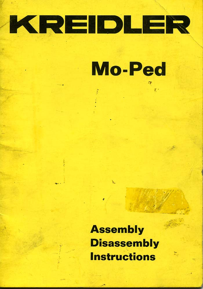 Kreidler Mo-Ped Assembly Disassembly Instructions