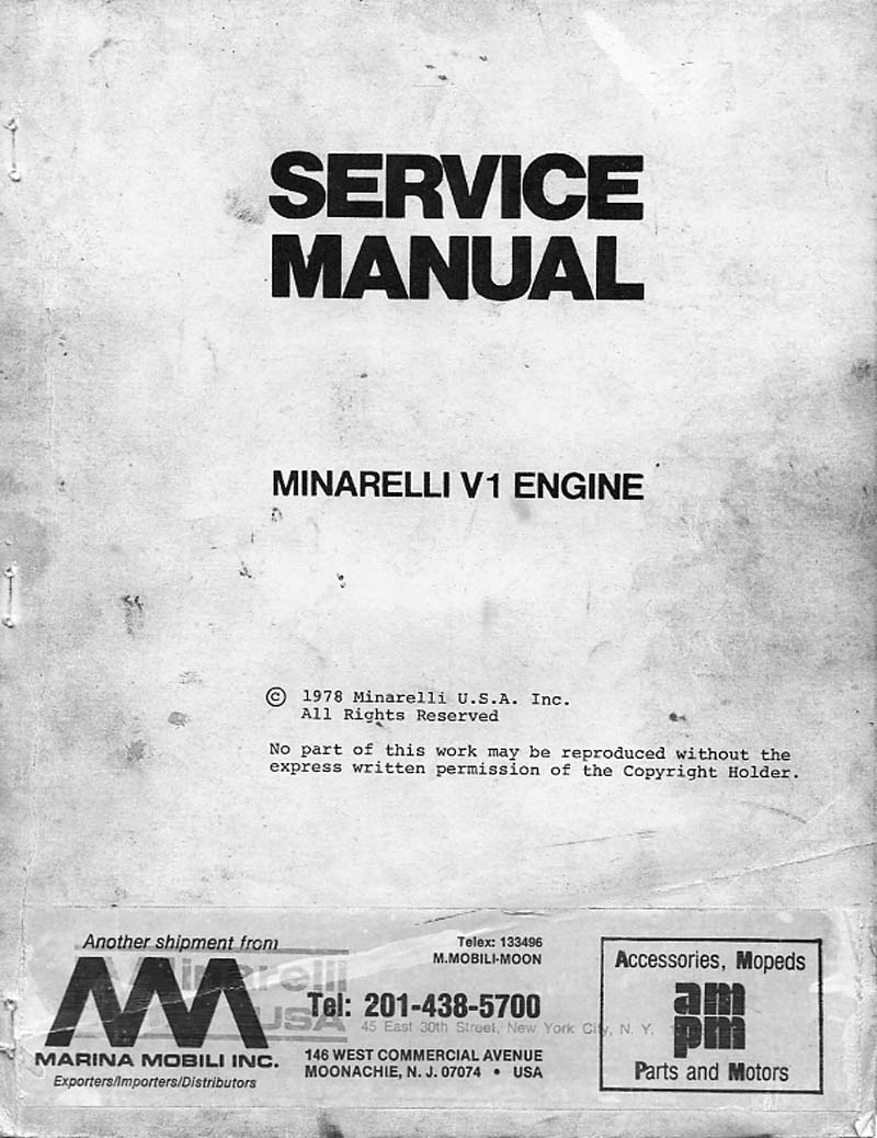 Minarelli V1 Service Manual